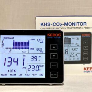 CO2 meter - CO2 monitor - stoplicht - temperatuur - alarm